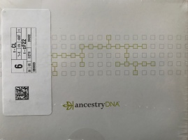 My AncestryDNA kit arrived on Thursday, 1 February 2018