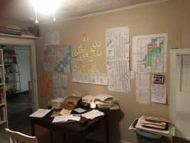 My genealogy work area in my home in Columbus, Ohio