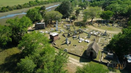 Aerial View of Magnolia Cemetery, Charleston, SC